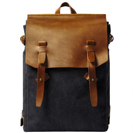 Casual Backpack Vintage Canvas Leather Backpacks